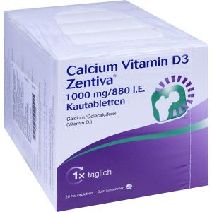 Calcium Vitamin D3 Zentiva 1000mg/880 I.E.